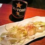 お初天神 本陣 - 冬瓜&瓶ビール