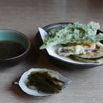 そば処 花の里 - 野菜天ぷら