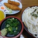 城南うどん - 料理写真:ざるうどん定食710円