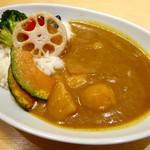 はなまるうどん - 野菜カレー(550円)