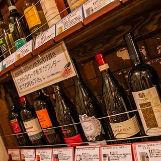 ワインは全てヴェネト州産。グラスは樽生ワインを提供!