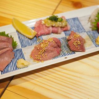 ◆絶品!肉刺し盛り合わせ