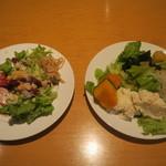 シャバ リバ - サラダ取り分け例