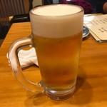 甚六鮨 - 生ビール