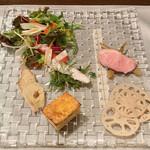 トラットリア カーサ カルマ - 前菜5品、サラダ盛り合わせ