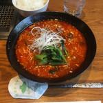 107298395 - ユッケジャン麺 (860円) ご飯 (120円)