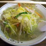 泰園 - 「タンメン・半チャーハンセット」850円のタンメン
