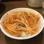 らー麺 にしかわ - ぴり辛ネギ丼
