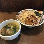 らー麺 にしかわ - つけ麺 オリジナルスープ ※太麺、1.5玉