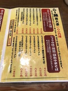 らー麺 にしかわ - メニュー①