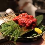 京町家の黒毛和牛一頭買い焼肉 市場小路 - ラムシン¥1,280