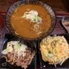 玉川 - 料理写真:カレー南蛮そば、牛肉皿、かきあげ