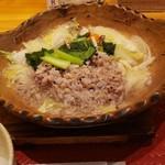 107319126 - 鶏と野菜の塩出汁雑炊