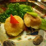 孫幸 - 貝柱とグジの天ぷら