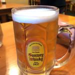サカマル酒房 - 生ビール(メガサイズ)