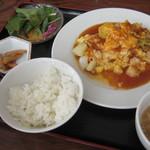 蓮華 - いろんな海鮮の卵あんかけ(ランチ)