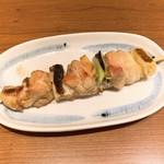 やきとり 餃子道場 - ジャンボネギ間串 塩