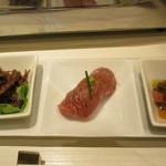 nikushouiyasaka - 前菜3種