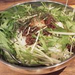 本格七輪 炭火焼肉 炭咲 - 牛ミンチ丼のアップ