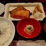 107341066 - 焼魚二点盛り定食