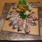 安曇野庵 - 秋刀魚の刺身