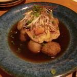 安曇野庵 - 「蕎麦だんご」と鴨の揚げ出し780円