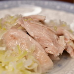 四川料理 川国志 - 蒸し鶏のネギソースかけ@650円