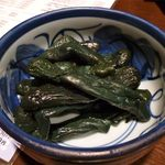 居酒屋 赤べこ - 長なすの漬物(凄く小さい茄子です)