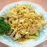 10736481 - 蒸し鶏の山椒唐辛子かけ