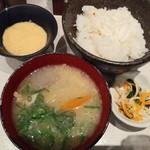典 - 豚汁、魚飯、山芋、香の物