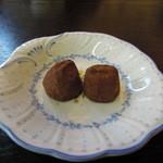 cafe Kiara - サービスでついていたチョコレート