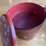 手打そば処北の玄庵 - 蕎麦湯