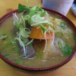 トキワ - 味噌汁から追加100円で豚汁になります