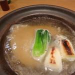 達 菊うら - フカヒレとスッポンの土鍋仕立て
