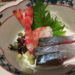 達 菊うら - お造り(鯖と車海老)