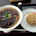 107395572 - レストラン 美夕 「あんかけ中華麺と皿チャーハン」