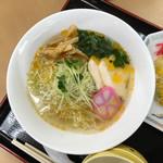 佐野サービスエリア(下り線)レストラン・スナックコーナー - 花咲かに香る 鯛だし塩らーめん 850円