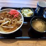 吉野家 - 料理写真:通常は→早い!うまい!安い! セルフだと→安い!早い!うまい!の流れになるおね