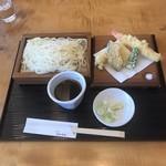 うどん茶屋 海津屋 - 海老天ぷら ざるうどん