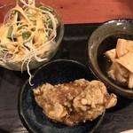 むちゃく - 野菜サラダと小鉢の2品
