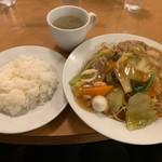 南海飯店 - かたい焼ソバ+ライス