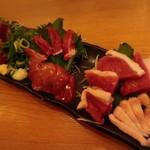 地鶏専門おちば屋 HANARE - 料理写真:お造り盛り合わせ(河内鴨)