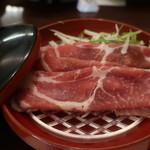 あんだん亭 - ガリシア栗豚のトマトしゃぶしゃぶ。
