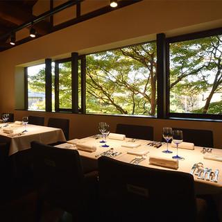 祇園の町家を改装した開放感のある空間で、極上イタリアンを堪能