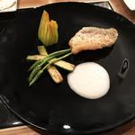 son-ju-cue - 甘鯛のうろこ焼き 季節のピュレを添えて(790円)