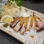 龍馬 本店 - 地鶏のモモ塩焼