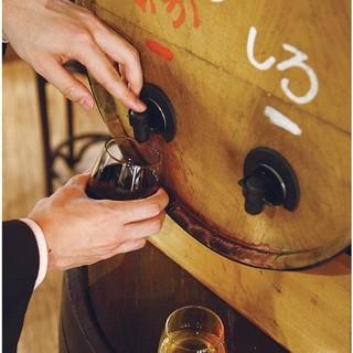 『樽出しワイン』赤白2時間飲み放題で980円!【予約不要】