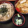 更科 - 料理写真:カツ定食とざるそばのセット820円です