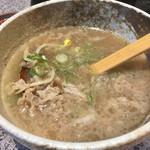 焼肉のんき - 肉吸いの肉をかき集めたら レンゲ一杯程