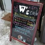 W's cafe - 入り口の案内です。